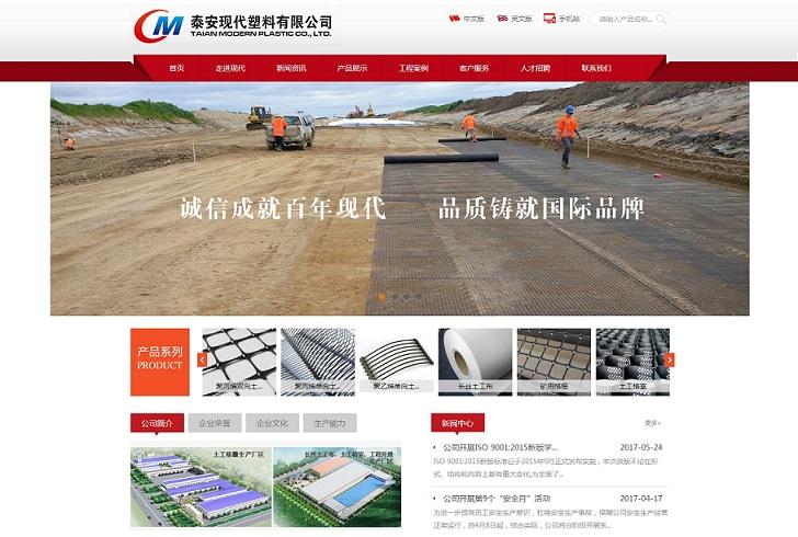 泰安现代塑料有限公司网站建设